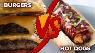 Burgers Vs. Hot Dogs
