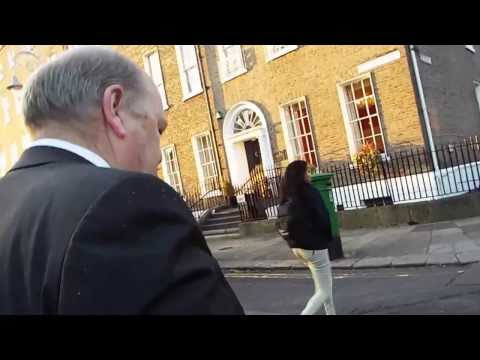 Michael Noonan walks into Dublin says no