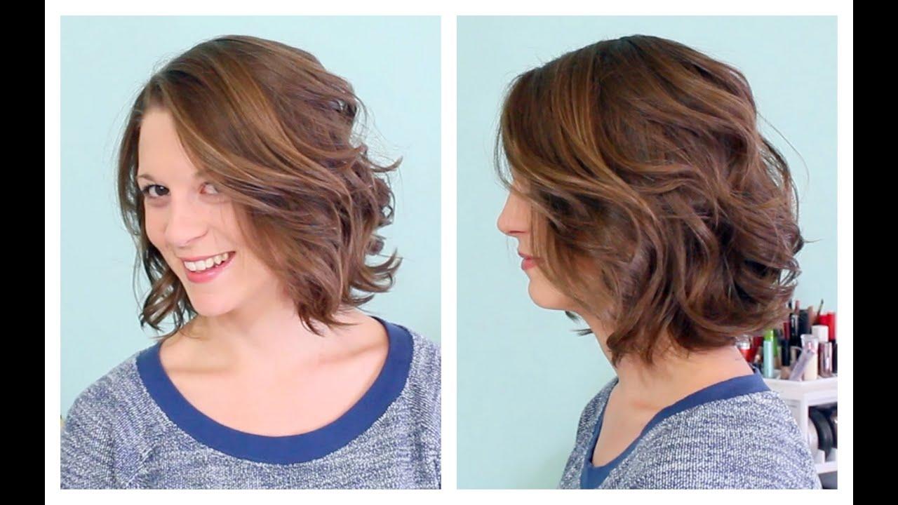 Как сделать легкие волны на коротких волосах одной длины