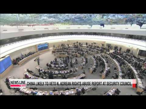 China shows intent to veto North Korean rights report at Security Council
