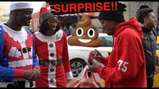 WE GAVE STRANGERS BOXES OF POOP AS CHRISTMAS GIFTS ! - PRANK (NOT FOR WEAK STOMACHS)