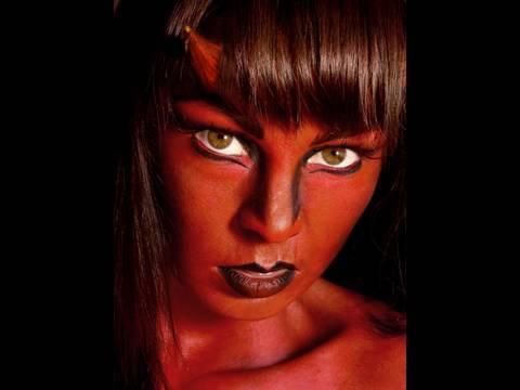 She Devil Face Paint Design