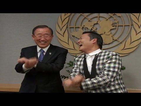 Psy teaches Ban Ki-moon 'Gangnam Style'
