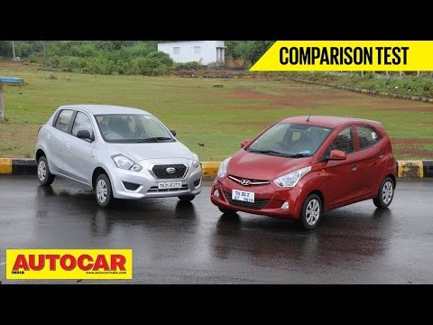 Hyundai Eon 1.0 vs Datsun Go | Comparison Test | Autocar India