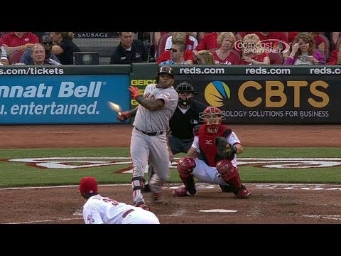 SF@CIN: Sandoval lifts a sacrifice fly to center