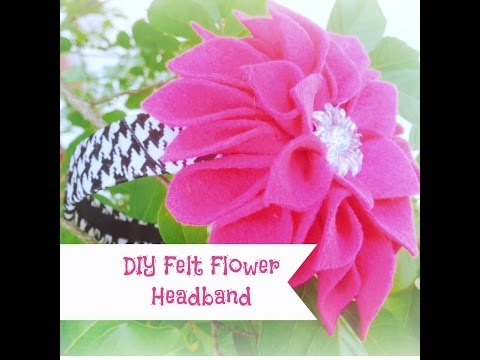 DIY Felt Flower Headband Tutorial