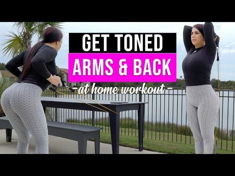 Exercises to Lose Back & Arm Fat (AT HOME) / Toned Arms & Back Workout for Women