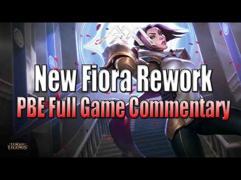 New Fiora Rework - PBE Full Gameplay - League of Legends