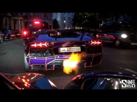 سيارة قطرية فارهة تطلق لهباً في شوراع لندن