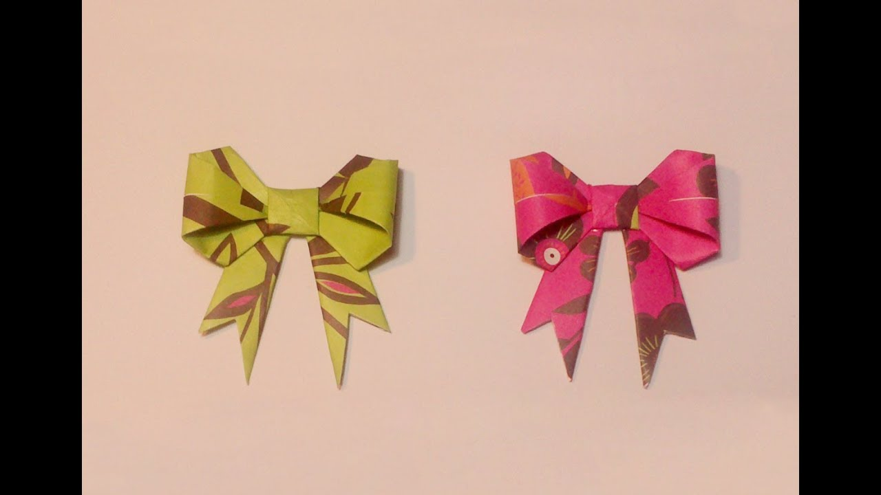 Hd tuto faire un noeud ruban en origami make a knot - Comment faire un papier cadeau ...