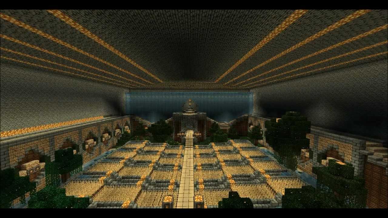 Minecraft tekkit epic underground base speed build youtube for Classic underground house