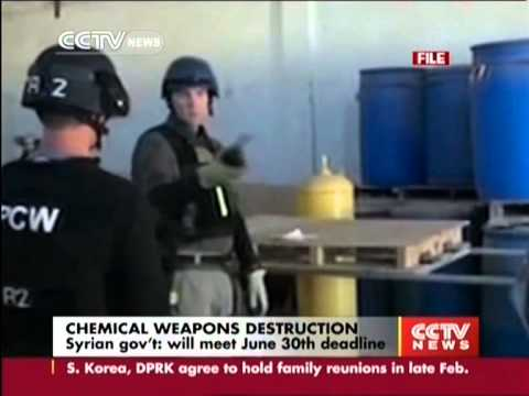 Syrian gov't will meet June 30th chemical weapons destruction deadline
