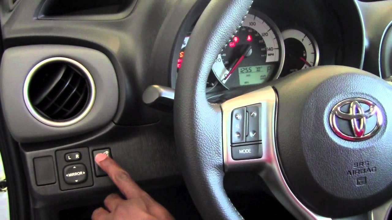 2012 Toyota Yaris Dash Dimmer Switch How To By