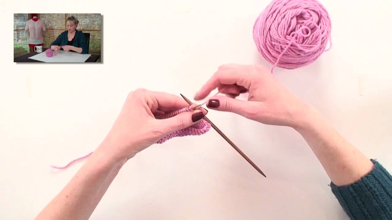 Knitting Stitches Ktbl : Knitting Help - Knitting Through the Back Loop (ktbl) - YouTube