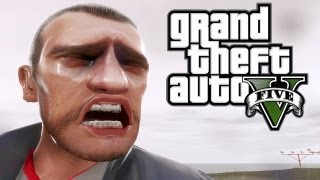GTA V Gameplay Trailer Niko's Dramatic Reaction