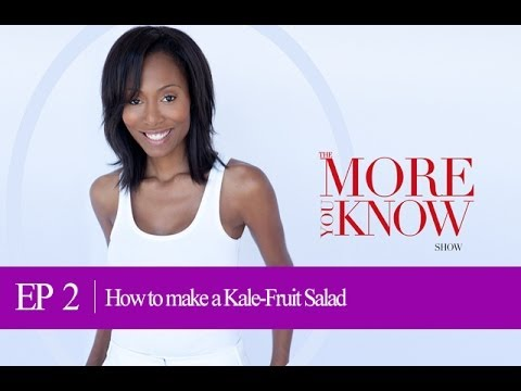 EP: 2 How to make a Kale Fruit Salad in 5 mins