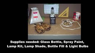 How To Make A Jack Daniels Bottle Lamp **DIY Jack Daniels