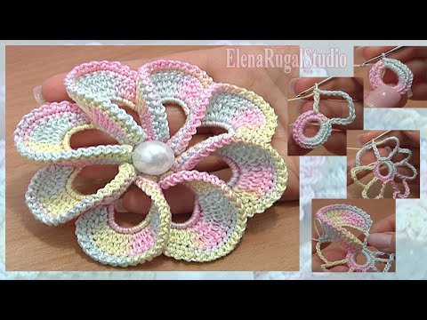 3D Spiral 8-Petal Flower Trim Around Tutorial 56