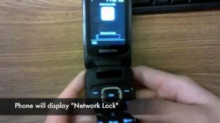 How To Unlock Samsung SGH-A927 Flight II 2, C414 , A117