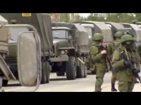 Russian Military Forces blocking the Ukrainian Military Base in Balaklava Sevastopol Crimea
