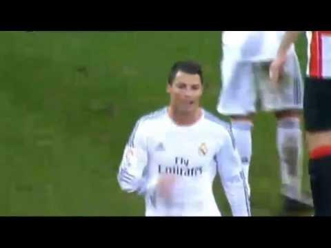 Cristiano Ronaldo hilarious red card vs  Athletic Bilbao ورقة حمراء لرونالدو