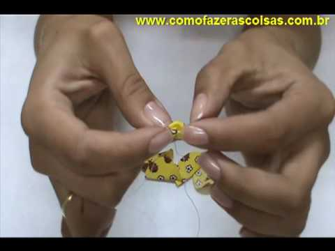 Como fazer uma flor de fuxico com as pétalas arredondadas - parte 2