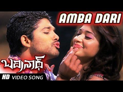 Ambadari Full Video Song | Badrinath Movie | Allu Arjun, tamanna