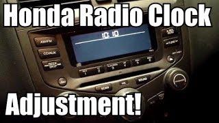 HONDA ACCORD: How To Adjust The Clock