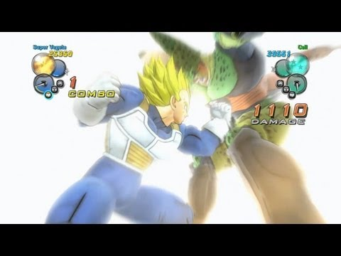 Dragon Ball Z Ultimate Tenkaichi - PS3 / X360 - Vegeta vs Cell Gameplay Video