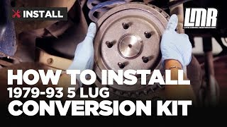 Fox Body Mustang 5 Lug Conversion Kit Install (Five Lug Swap)