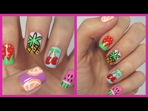 Easy Fruit Nail Art!