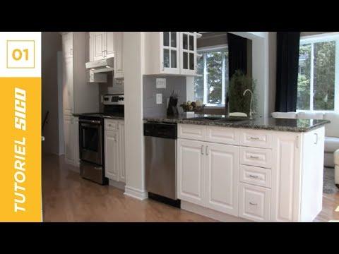 Comment repeindre les armoires de cuisine avec sico youtube for Armoire de cuisine style antique