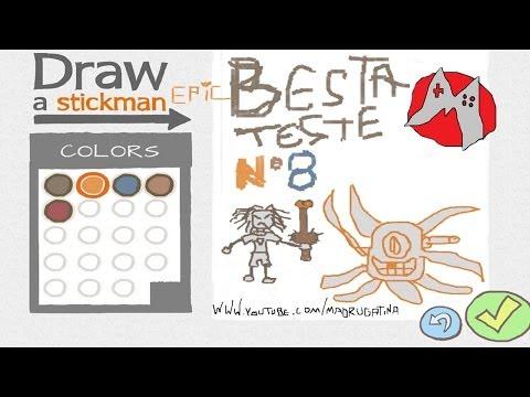 Draw a stickman EPIC Besta teste nº 8 O guerreiro da espada de peniana!