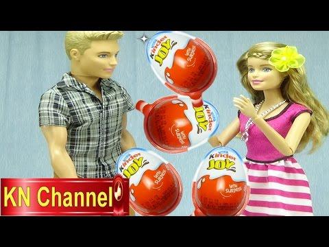 Đồ chơi trẻ em Bé Na Bóc trứng bất ngờ Kinder egg Búp bê Barbie Ken surprise Kids toys