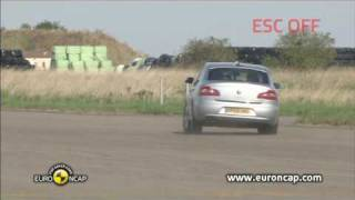 Skoda Superb ESC test - Euro NCAP 2009