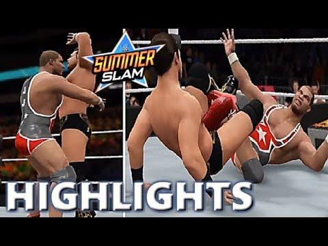 WWE 2K17 THE MIZ VS JASON JORDAN   SUMMERSLAM 2017 - PREDICTION HIGHLIGHTS