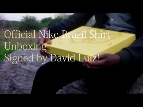 Official Brazil Shirt 2014 Unboxing | Signed by David Luiz