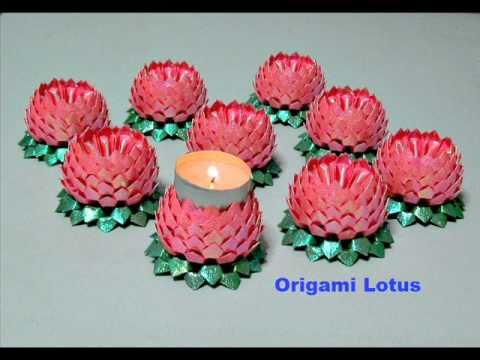 How to make an origami lotus youtube for How to make a lotus with paper