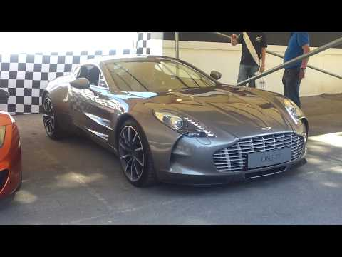 Aston Martin 177 (One-77) Arriving at Goodwood Festival of Speed 2011