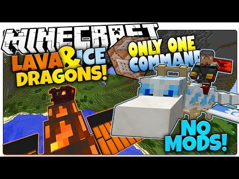Minecraft | LAVA & ICE DRAGON PETS | No Mods | Only One Command (Minecraft Vanilla Mod)