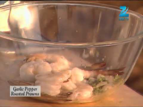 Khana Khazana Ramzan Special - Garlic Pepper Roasted Prawns