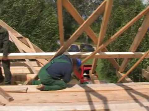 Konstrukcja i sposób wznoszenia domu drewnianego, 3-4