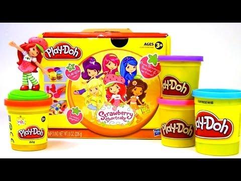 Play Doh Strawberry Shortcake playset playdo plastilina by Unboxingsurpriseegg