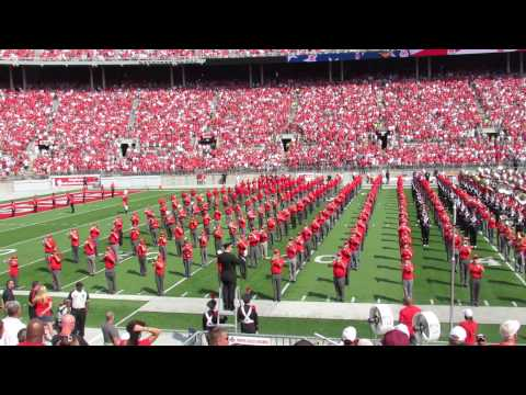 OSUMB Ramp and Pregame Alumni Band  and Band 9 7 2013 vs SD State
