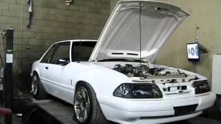 87' Mustang Notchback Terminator Swap On Dyno 2nd Pull 497