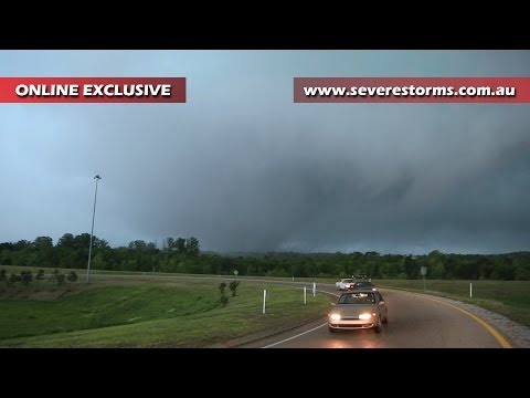 Tupelo Mississippi Tornado 2014 Skywarn Spotting Operations