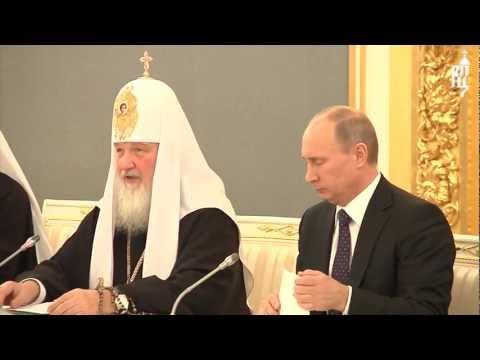 В.В.Путин встретился с участниками Архиерейск. Собора