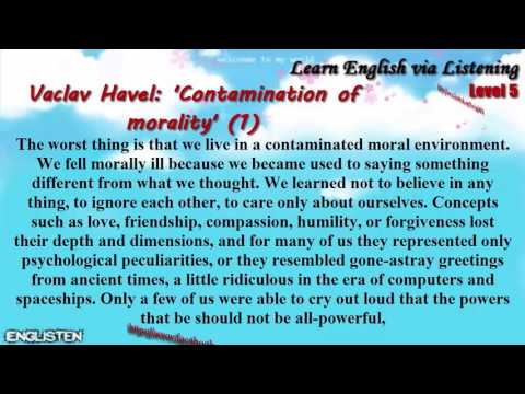 Unit 20 Vaclav Havel: 'Contamination of morality' (1) | Learn English via Listening Level 5