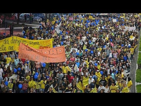 More protests in Brazil for International World Cup Resistance Day