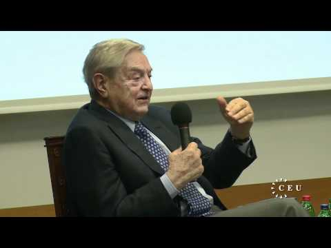 CEU founder George Soros delivers public lecture on Euro crisis